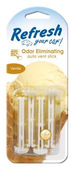 Vỉ 4 cây thơm xe hơi hương Kem Vanilla HandStands Refresh Your Car (Vàng)