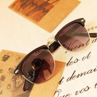 Mắt kính nữ unisex thời trang sang chảnh + tặng bao da H166 (Nâu Đen)