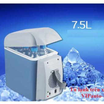 Tủ lạnh mini tiện ích trên ô tô 7.5L (Xanh)