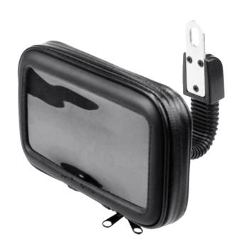 360 Degrees Rotation Motorcycle Mobile Phone Handlebar Mount Holder Waterproof Zipper Bag for HTC iPhone 6 Below 5.5 inch Size Phones GPS (Intl) - intl