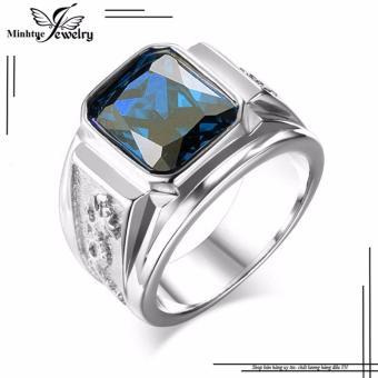 Nhẫn nam cao cấp rồng đá xanh