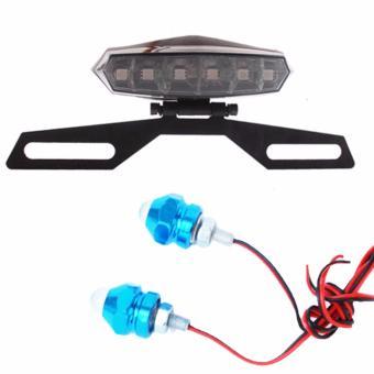 Đèn phanh kèm giá treo biển số tặng kèm bộ ốc đèn led trang trí xe