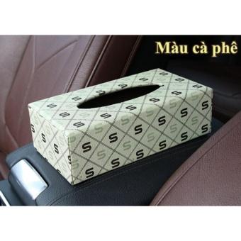 Hộp đựng khăn giấy trên ô tô PHAuto-HKG01 - Màu cà phê