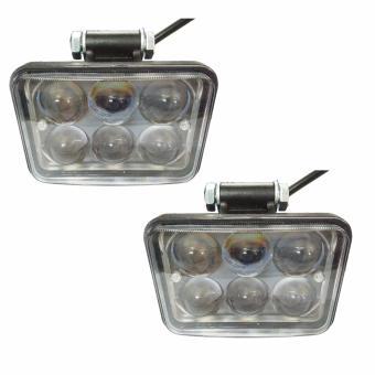 2 Đèn pha độ led cao cấp 6 mắt Cree Q5 siêu sáng 18W (trắng)