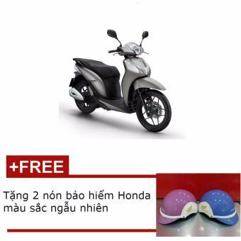 Xe tay ga Honda SH mode cá tính - Bạc đen + Tặng 2 nón bảo hiểm Honda thời trang màu sắc ngẫu nhiên