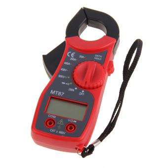 Red Digital LCD Clamp Multimeter Voltmeter Ammeter Ohmmeter Volt Tester(Intl)