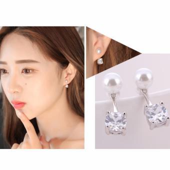 Bông tai nữ ngọc trai đính đá thời trang BTM8866