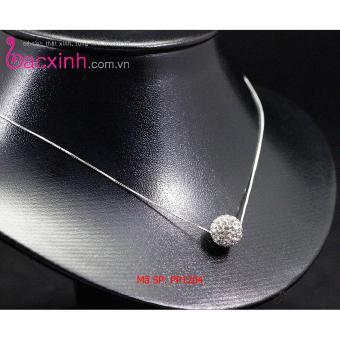 Bộ dây chuyền liền mặt trang sức bạc Ý S925 Bạc Xinh - Cầu pha lê 1 tầng PP1204