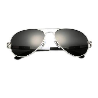 Fancyqube Men's Polarizer Sunglasses Silver
