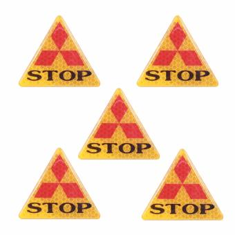 Bộ 5 decal phản quang STOP (tam giác vàng)