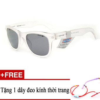 Kính mát trẻ em EXFASH EF4740 121C (Trắng phối đen) + Tặng kèm 1 dây đeo kính trẻ em