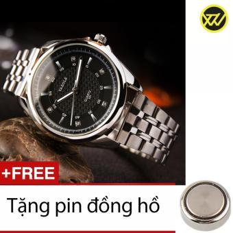 Đồng Hồ Nam Dây Thép Chống Gỉ S1059a + Tặng 1 Pin Đồng Hồ xuanthanhwatch