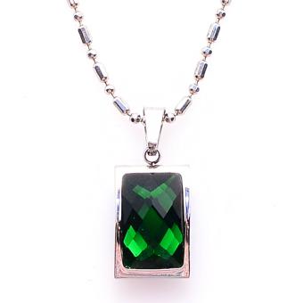 Dây chuyền mặt đá Sapphire may mắn THE OXFORD 6716 (Xanh lục)