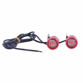 Bộ 2 led CL040 gắn kính hậu xe máy (chớp-sáng đỏ)
