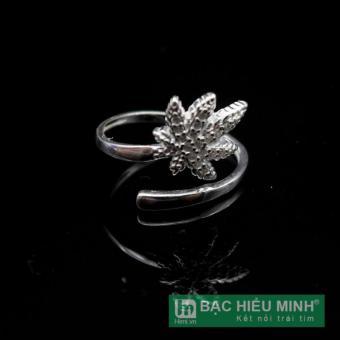 Nhẫn nữ BẠC HIỂU MINH nu416 lá phong bạc ý