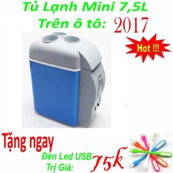 Tủ lạnh mini tiện dụng trên xe ô tô 7.5 lít + Tặng ngay đèn Led USB