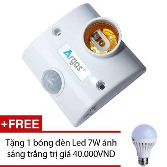 Đuôi đèn cảm biến hồng ngoại Argos TR02 + Tặng 1 bóng đèn Led 7W ánh sáng trắng