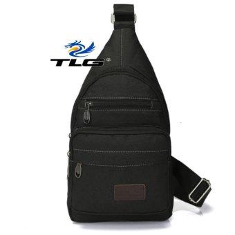 Túi Đeo Ngực Thể Thao Dã Ngoại Phối Da Phong Cách Thành Long TL8071-1(đen)