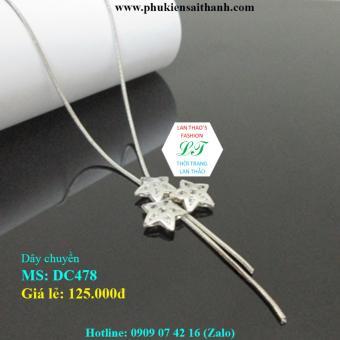 Dây chuyền Inox Nữ 3 Ngôi sao xinh Ver8 DC478 (TRẮNG)