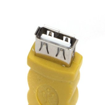 Black or Yellow USB Type A Female to Female Converter Adapter - Intl