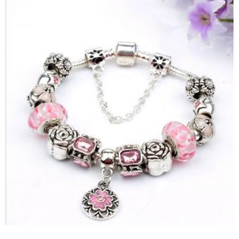 Vòng trang sức hạt charms đeo tay Jewelry Queen Victoria Charm Panda DZ58 (Bạc)