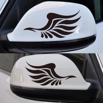 Hình xăm Đôi Cánh Thiên Thần dán gương chiếu hậu xe hơi (ĐEN)