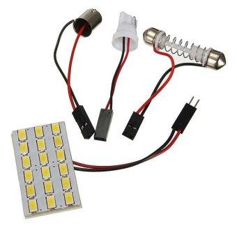 Bombilla Panel Blanco T10 18 led 5630 smd Festoon T10 BA9S para Coche Techo (Intl)