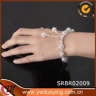 Lắc tay hình cầu xinh xắn si bạc VT006