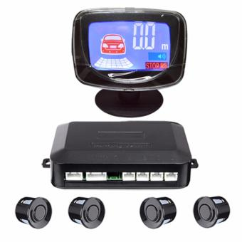 Bộ cảm biến lùi và cảnh báo va chạm xe hơi Parking sensor 4 mắt (màn LCD 4