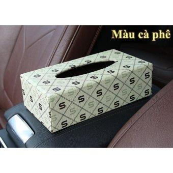 Hộp đựng khăn giấy trên ô tô VIPauto-HKG01 - Màu cà phê