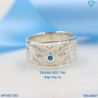 Nhẫn bạc nam đẹp hình rồng NNA0067 - Trang Sức TNJ