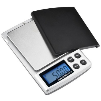 500g x 0.01g Digital Pocket Scale Silver (Intl)