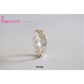 Nhẫn nữ trang sức bạc Ý S925 Bạc Xinh - Kim tiền may mắn RR1586