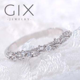 Nhẫn bạc nữ xuyến chi trang sức đẹp Gix Jewelry SPR-0022 (Trắng)