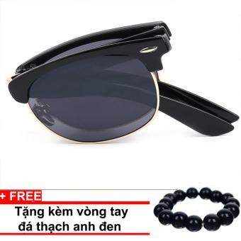 Kính mát nam thời trang cao cấp Sino gập gọn+ Tặng kèm vòng tay thạch anh đen