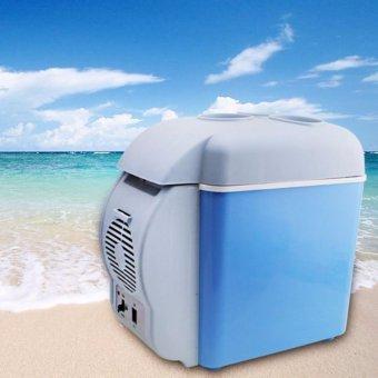 Tủ lạnh mini hộ gia đình và trên xe hơi 7.5L (Xanh)