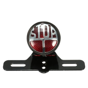 Motorcycle Rear Tail Brake Stop Light License Plate Bracket For Harley Cafe Race unopery - intl