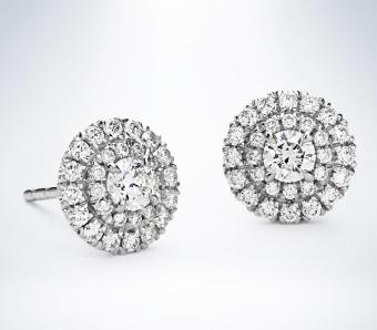 Bông tai nữ đá kim cương nhân tạo - BONG017.