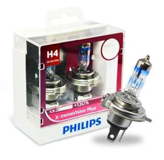 Bộ 2 bóng đèn Philips XstremVision Plus chân H4 tăng sáng 130%