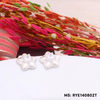 Bông tai nữ trang sức bạc Ý S925 Bạc Xinh - Ngôi sao hi vọng RYE140802