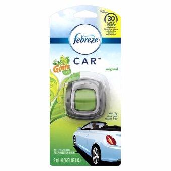 Sáp thơm xe an toàn Febreze Car Vent Clip Air Freshener Gain Original (Mỹ)