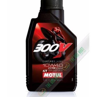 Nhớt cho xe mô tô phân khối lớn Motul 300V Factory Line 10W40 1L
