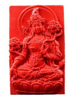 Mặt Đá Phật Mẫu Chu Sa Đỏ Vạn Sự Như Ý Alichienchien