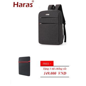 Ba Lô LAPTOP HARAS HR099 (ĐEN)+ TÚI CHỐNG SỐC-Dòng cao cấp
