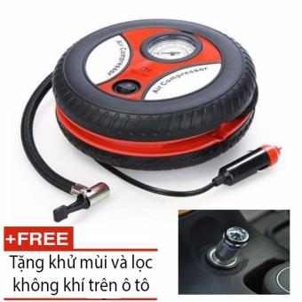 bơm lốp điện tiện lợi cho ô tô + tặng máy lọc không khí trên ô tô