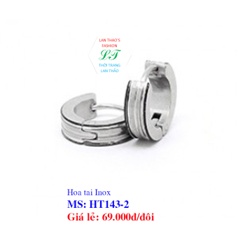 Hoa tai Inox Khoen HT143-2 (TRẮNG)