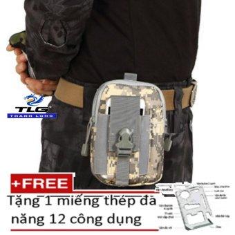 Túi Đeo Hông Thể Thao Dã Ngoại,Đi Phượt Tặng Kèm Miếng Thép Đa Năng 12 Công Dụng TL8057-192 -12(Ngụy)