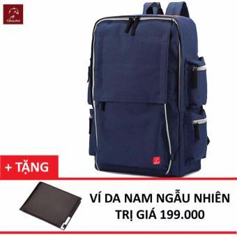 Balo Laptop Thời Trang Glado BLG056 (Xanh) + Tặng Ví Nam Thời Trang