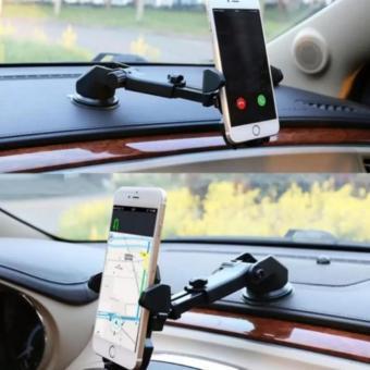 Giá đỡ kẹp điện thoại trên xe hơi, ô tô điều chỉnh độ dài xoay 360 độ