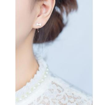 Bông tai chiếc nơ nhỏ bạc S925 Italia Mini Jewelry LDE0046